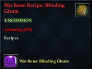 War Rune Recipe- Blinding Gleam