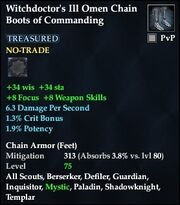 Witchdoctor's Ill Omen Chain Boots of Commanding