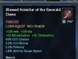 Blessed Scimitar of the Emerald Dawn