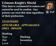 Crimson Knight's Shield