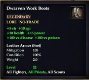 Dwarven Work Boots (Leather)