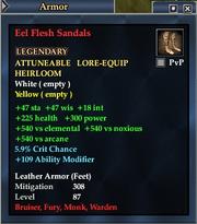 Eel Flesh Sandals