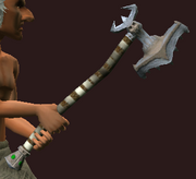 Imbued Iron War Maul (Equipped)