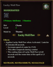 Lucky Wolf Paw