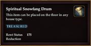 Spiritual Snowfang Drum