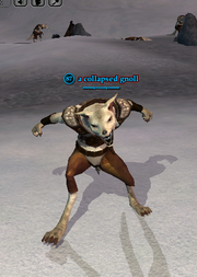 A collapsed gnoll
