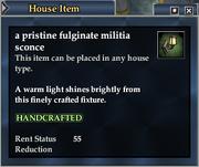 A pristine fulginate militia sconce