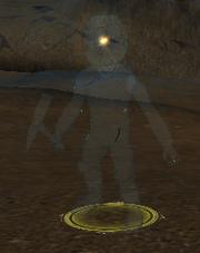 A shimmering miner