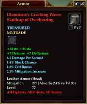 Illuminate's Crashing Waves Skullcap of Overbearing