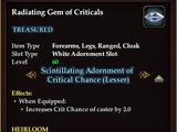 Radiating Gem of Criticals