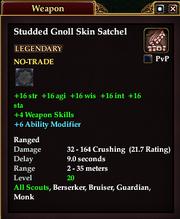 Studded Gnoll Skin Satchel