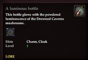 A luminous bottle