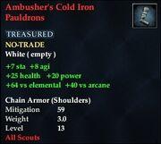 Ambusher's Cold Iron Pauldrons
