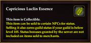 Capricious Luclin Essence
