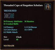 Threaded Cape of Forgotten Scholars