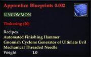 Apprentice Blueprints 0.002