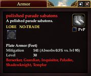 Polished parade sabatons