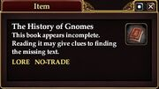 The History of Gnomes (Quest Starter)
