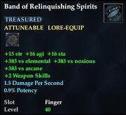 Band of Relinquishing Spirits