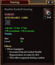 Bauble-Eyeball Earring
