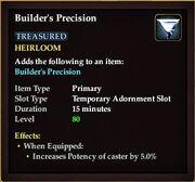 Builders precision