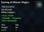 Earring of Minute Magics