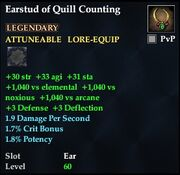 Earstud of Quill Counting