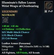 Illuminate's Fallen Leaves Wrist Wraps of Overbearing