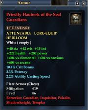 Priestly Hauberk of the Seal Guardians