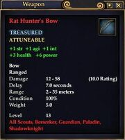 Rat hunters bow