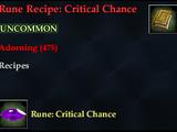 Rune Recipe: Critical Chance