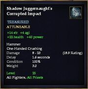 Shadow Juggernaught's Corrupted Impact