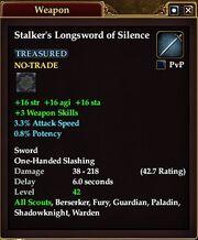 Stalker's Longsword of Silence