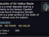 Statuette of Sir Vallius Bayle