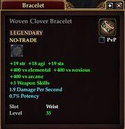 Woven Clover Bracelet
