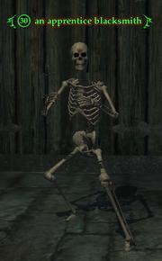 An apprentice blacksmith