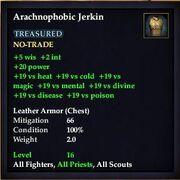 Arachnophobic Jerkin