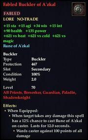 Fabled Buckler of A'zkal