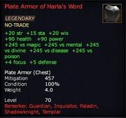 Plate Armor of Harla's Word
