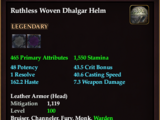 Ruthless Woven Dhalgar Helm