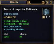 Totem of Superior Reticence
