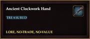 Ancient Clockwork Hand