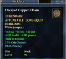 Decayed Copper Chain