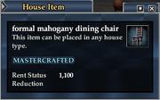 Formal mahogany dining chair