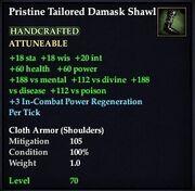 Pristine Tailored Damask Shawl