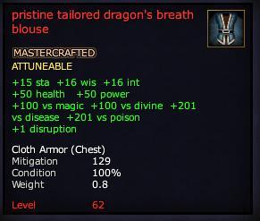 Pristine tailored dragon's breath blouse