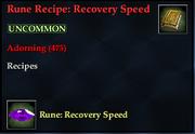 Rune Recipe- Recovery Speed