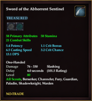 Sword of the Abhorrent Sentinel