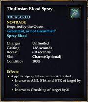 Thullosian Blood Spray