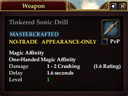 Tinkered Sonic Drill